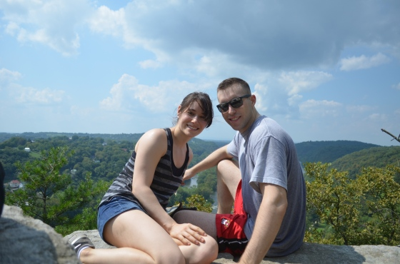 Zach and I at the Overlook Cliff